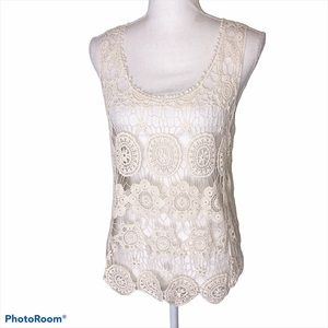 Haute Society Embroidered Crochet Swim Cover-Up
